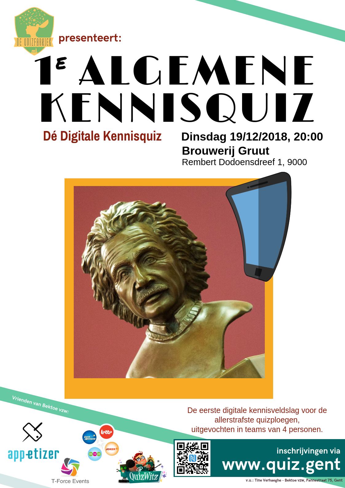 1ste Algemene Kennisquiz poster